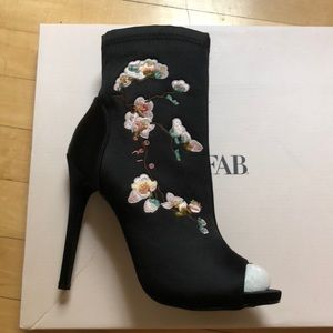 Just fab embroidered Cora booties